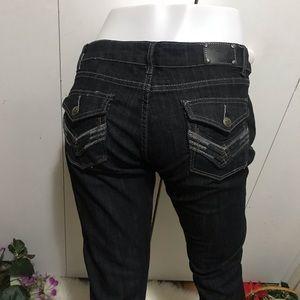 Rampage Skinny Leg Black Jeans Size 11